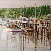 Downeast Reflections Poster by Karol Wyckoff
