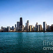 Downtown City Buildings In The Chicago Skyline Poster by Paul Velgos