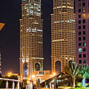 Dubai Business Towers Poster by Zaharra Hemani