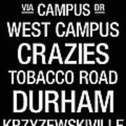 Duke College Town Wall Art Poster by Replay Photos