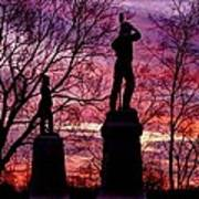 Durell's Independent Battery D And 48th Pa Volunteer Infantry-a1 Sunset Antietam Poster by Michael Mazaika