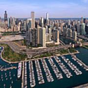 Dusable Harbor Chicago Poster by Steve Gadomski