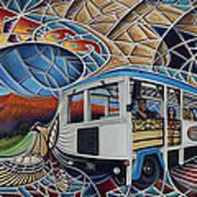 Dynamic Route 66 II Poster by Ricardo Chavez-Mendez