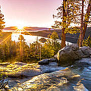 Eagle Falls Emerald Bay Lake Tahoe Sunrise First Light Poster by Scott McGuire