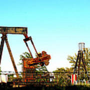 East Texas Oil Field Poster by Kathy  White