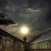 Eastern State Penitentiary Sunset Poster by Kim Zier