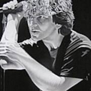 Eddie Vedder Black And White Poster by Joshua Morton