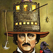 Edgar Allan Poe Poster by Leah Saulnier The Painting Maniac