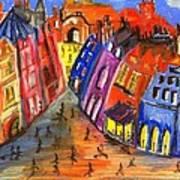 Edinburgh's Royal Mile  Poster by Karen Larter