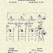 Edison Lighting System 1891 Patent Art Poster by Prior Art Design