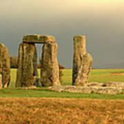 Eerie Stonehenge 3 Poster by Deborah Smolinske