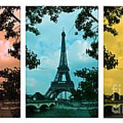 Eiffel Tower Paris France Trio Poster by Patricia Awapara