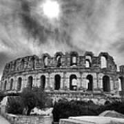 El Jem Colosseum 2 Poster by Dhouib Skander
