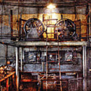 Electrician - Turbine Station Poster by Mike Savad