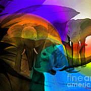 Elephant Walk Poster by Sydne Archambault
