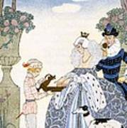 Elizabethan England Poster by Georges Barbier