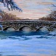 Elm Street Bridge On A Winter's Morn Poster by Jack Skinner