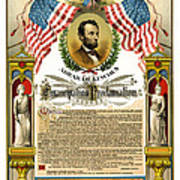 Emancipation Proclamation Tribute 1888 Poster by Daniel Hagerman