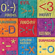 Emoticons Patch Poster by Debbie DeWitt