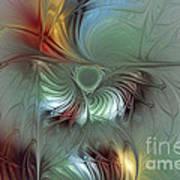 Enchanting Flower Bloom-abstract Fractal Art Poster by Karin Kuhlmann