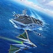 Encountering Atlantis Poster by Stu Shepherd