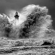 Enduring The Elements Bw Poster by Veselin Malinov
