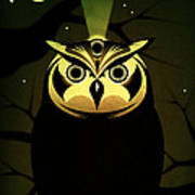 Enlightened Owl Poster by Milton Thompson