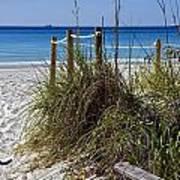 Enter The Beach Poster by Susan Leggett