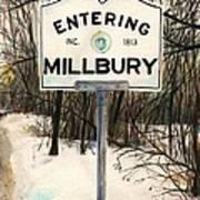 Entering Millbury Poster by Scott Nelson