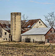 Ethridge Tennessee Amish Barn Poster by Kathy Clark