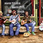 Eureka Springs Novelty Shop String Quartet Poster by Sam Sidders