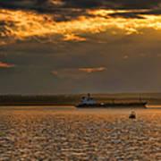 Evening Mariners Puget Sound Washington Poster by Jennie Marie Schell