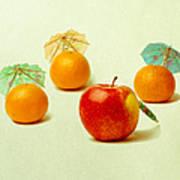 Exotic Fruit - Square Poster by Alexander Senin