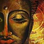 Face Of Buddha  Poster by Corporate Art Task Force