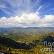 Fall Scene From North Fork Mountain Poster by Dan Friend
