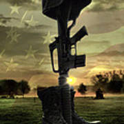 Fallen Soldiers Memorial Poster by September  Stone