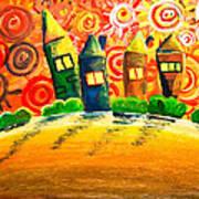 Fantasy Art - The Village Festival Poster by Nirdesha Munasinghe