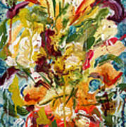 Fantasy Floral 1 Poster by Carole Goldman