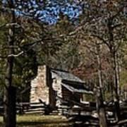 Farm Cabin Cades Cove Tennessee Poster by Douglas Barnett