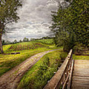 Farm - Landscape - Jersey Crops Poster by Mike Savad