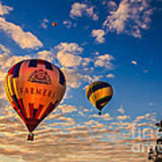 Farmer's Insurance Hot Air Ballon Poster by Robert Bales