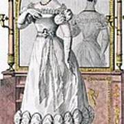 Fashion Plate Of A Lady In Evening Poster by English School