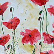 Feel The Summer 1 - Poppies Poster by Ismeta Gruenwald