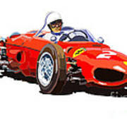 Ferrari Dino 156 1962  Poster by Yuriy  Shevchuk