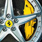 Ferrari Wheel 3 Poster by Jill Reger