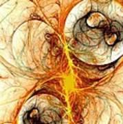 Fiery Birth Poster by Anastasiya Malakhova