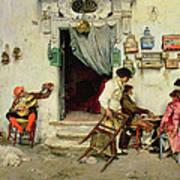 Figaro's Shop Poster by Jose Jimenes Aranda