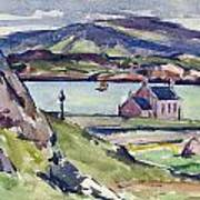Figure And Kirk   Iona Poster by Francis Campbell Boileau Cadell