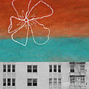 Fire Escapes Poster by Linda Woods