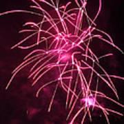 Rockets Red Glare Fireworks Poster by Howard Tenke